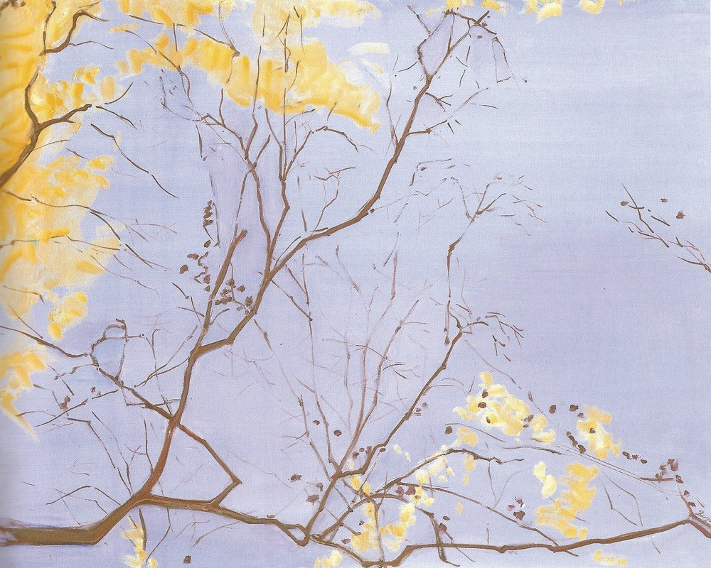 "Yellow Leaves #2  , 2007, Oil on Canvas, 30"" x 24"""