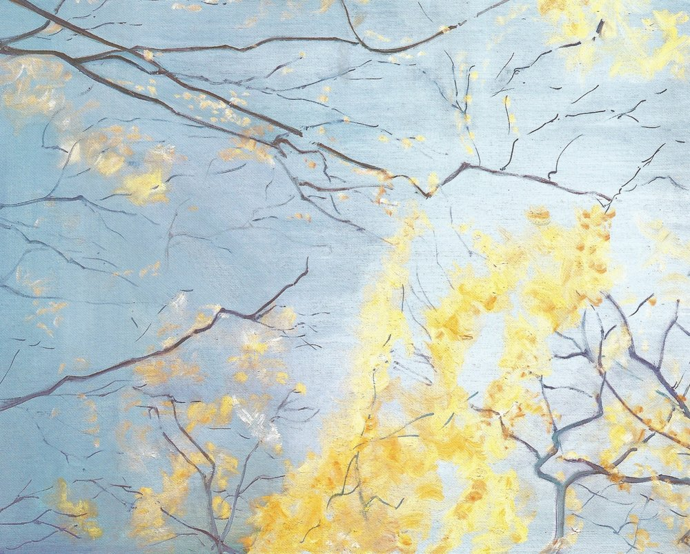 "Yellow Leaves #3  , 2007, Oil on Canvas, 24"" x 30"""