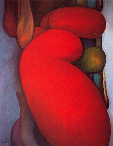 "Red Spirit,   2007, Oil on Canvas, 45 1/2"" x 35"""