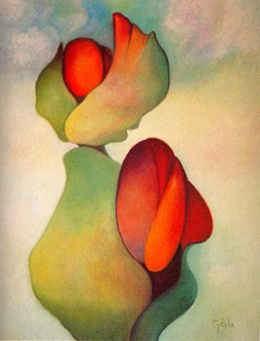 """Afraid Kitten    Oil on Canvas, 45 1/2"""" x 35"""", 2005"""