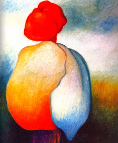 """Silence    Oil on Canvas, 25 1/2"""" x 21"""", 2006"""
