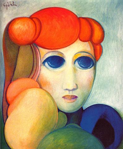 """Imaginarily Greta    Oil on Canvas, 39"""" x 32"""", 2007"""