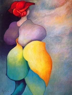 """Nostalgia    Oil on Canvas, 45 1/2"""" x 35"""", 2005"""