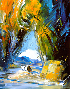 "Giant Treasure    Oil on Mi-Tientes, 39"" x 29"", 2006"