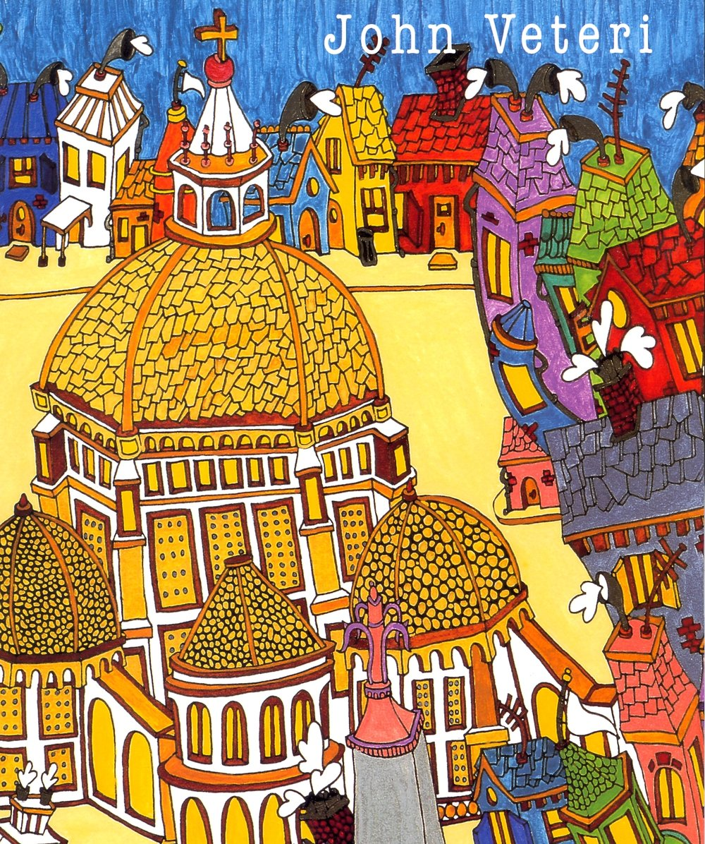 """Cover:   Duomo   (Detail)  Watercolor on Paper, 12""""x16"""", 2002"""