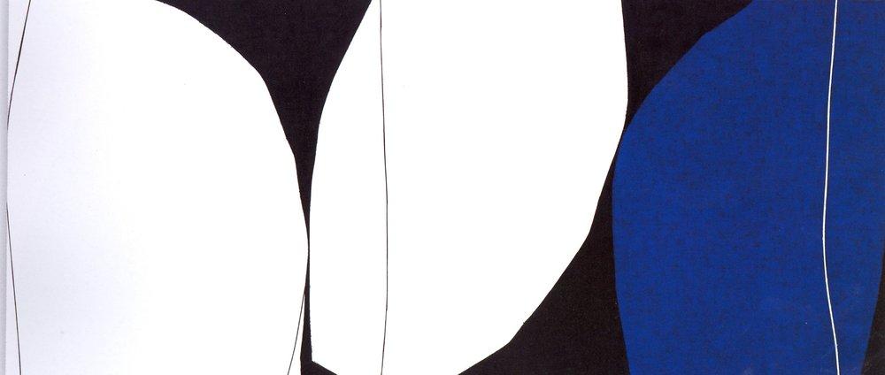 "Untitled: 07-20,  2007, Acrylic on Canvas, 20.5"" x 46"" (52 x 116.5cm)"