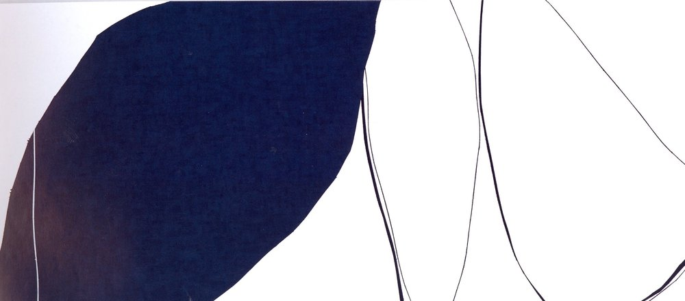 "Untitled: 07-21,  2007, Acrylic on Canvas, 20.5"" x 46"" (52 x 116.5cm)"