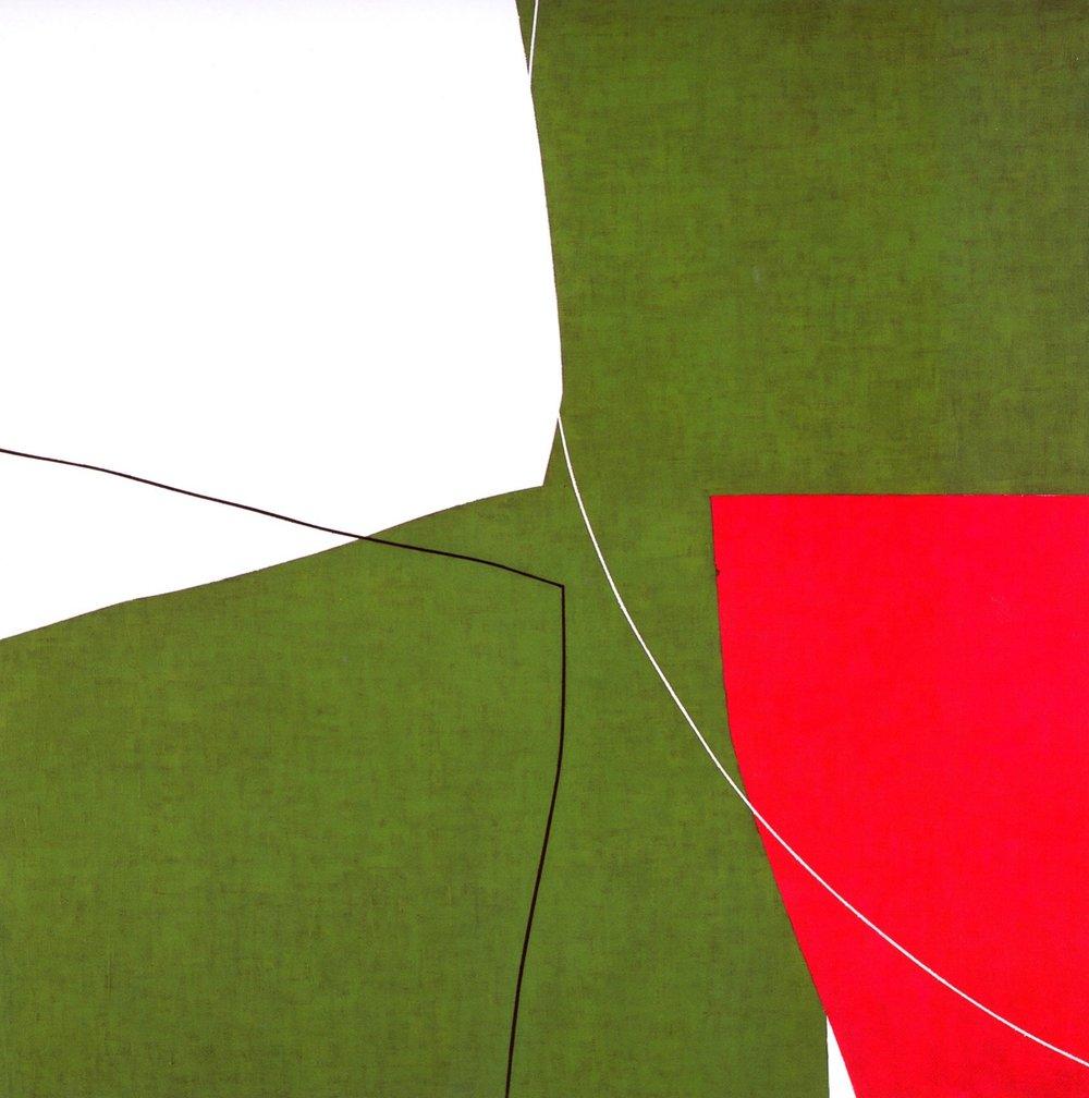"Untitled: 07-27,   2007, Acrylic on Canvas, 28.5"" x 28.5"" (72.7 x 72.7cm)"