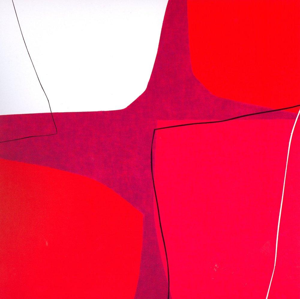 "Untitled: 07-19,   2007, Acrylic on Canvas, 28.5"" x 28.5"" (72.7 x 72.7cm)"