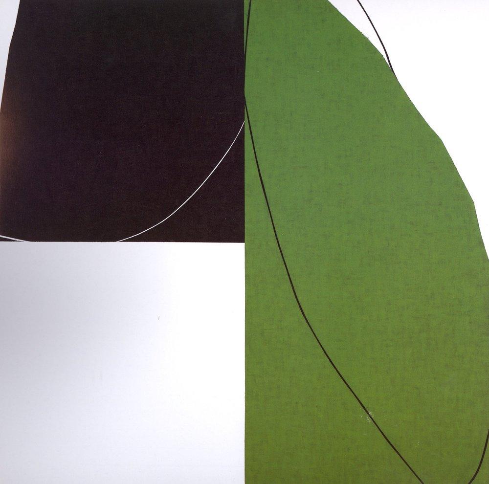 "Untitled: 07-23,  2007, Acrylic on Canvas, 36"" x 36"" (91 x 91cm)"