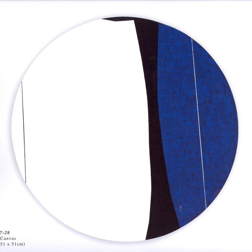 "Untitled: 07-28,  2007, Acrylic on Canvas, 20"" x 20"" (51 x 51cm)"