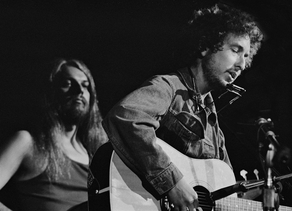 Graham Nash,   Bob Dylan and Leon Russell at the Concert for Bangladesh,   1971, Archival Ink Print on Paper