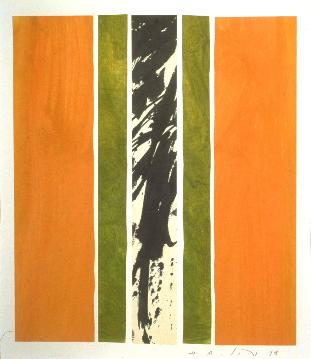 "Hermann Alfred Sigg,   Untitled 15,   2002, Acrylic and Collage on Paper, 20"" x 16"""