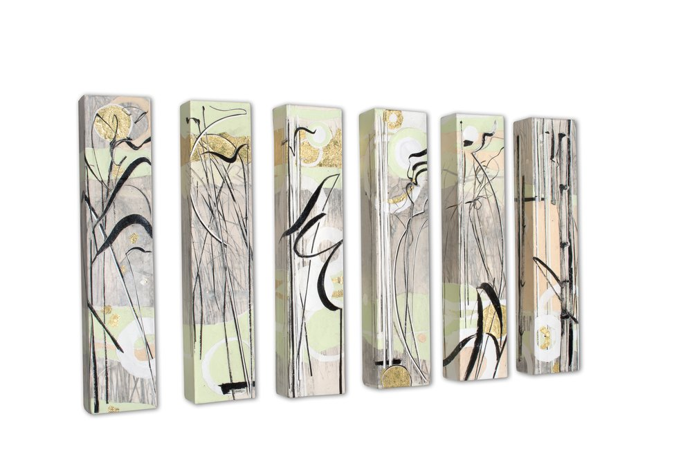 "Meighen Jackson,   Paper River,   2011, Mixed Media, 24"" x 5"" x 3"""