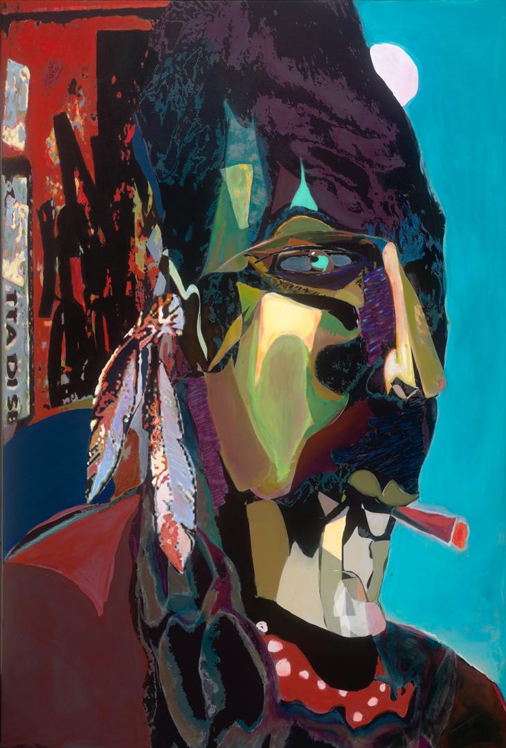 "Edmund Ian Grant,   Urban Warrior,   Acrylic on Canvas, 60"" x 40"""