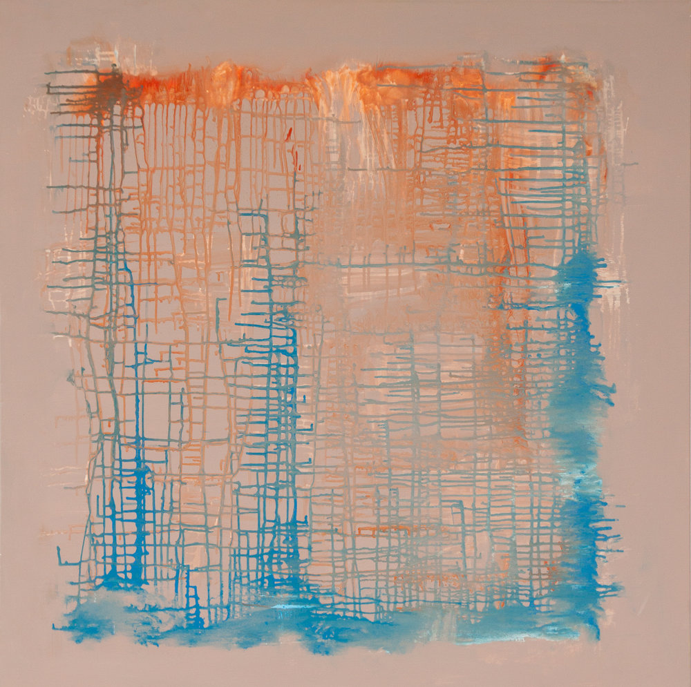 """Judith Shah,   Melt,   2017, Acrylic, 40"""" x 40"""""""