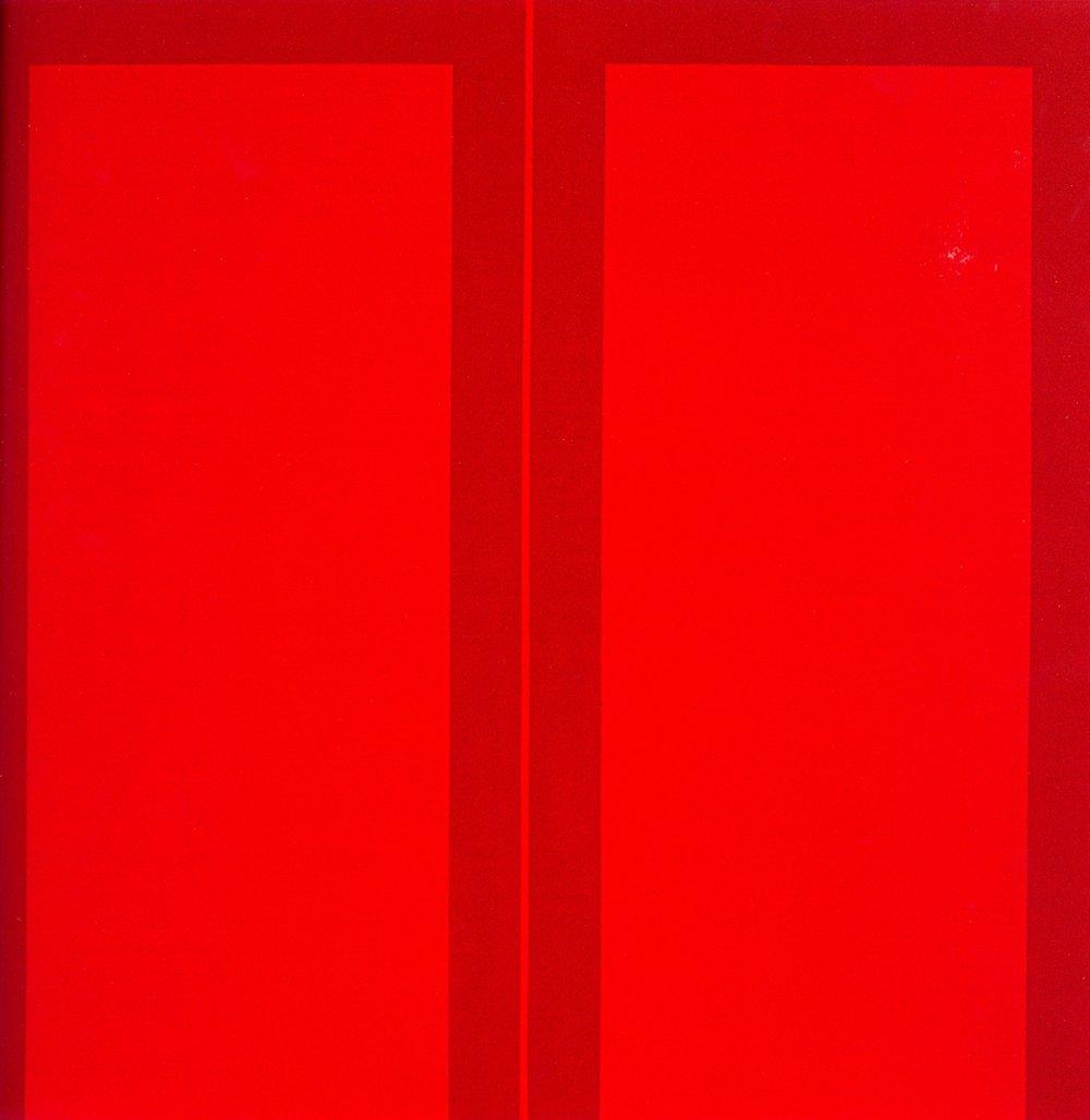 Work 2005 - R    Oil on canvas, 100 x 100 cm, 2005