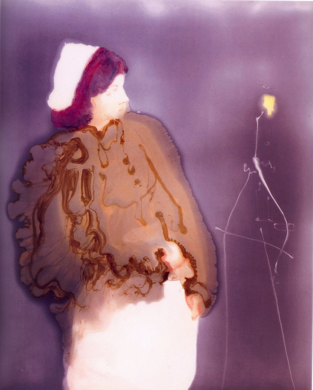 """Catalepsie Provoked by a Bright Light    Resin on Wood, 48""""x39"""", 2003"""