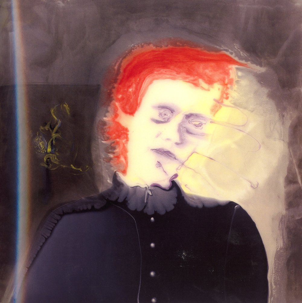 "Photophobic Hysteric    Resin on aluminum, 36""x36"", 2005"
