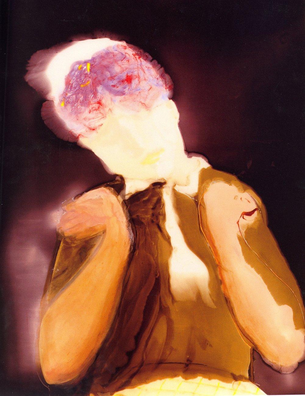 """Augustine, Lethargie    Resin on wood, 40""""x32"""", 2005"""