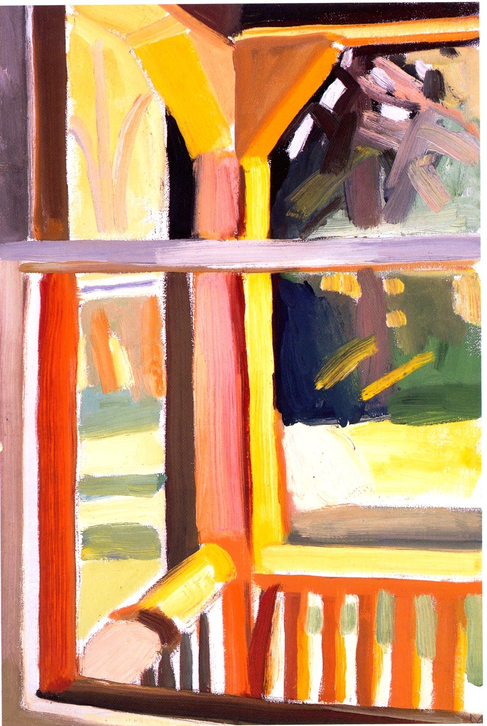 "Study for Spring Porch Post    oil on canvas, 18""x12"", 2004"