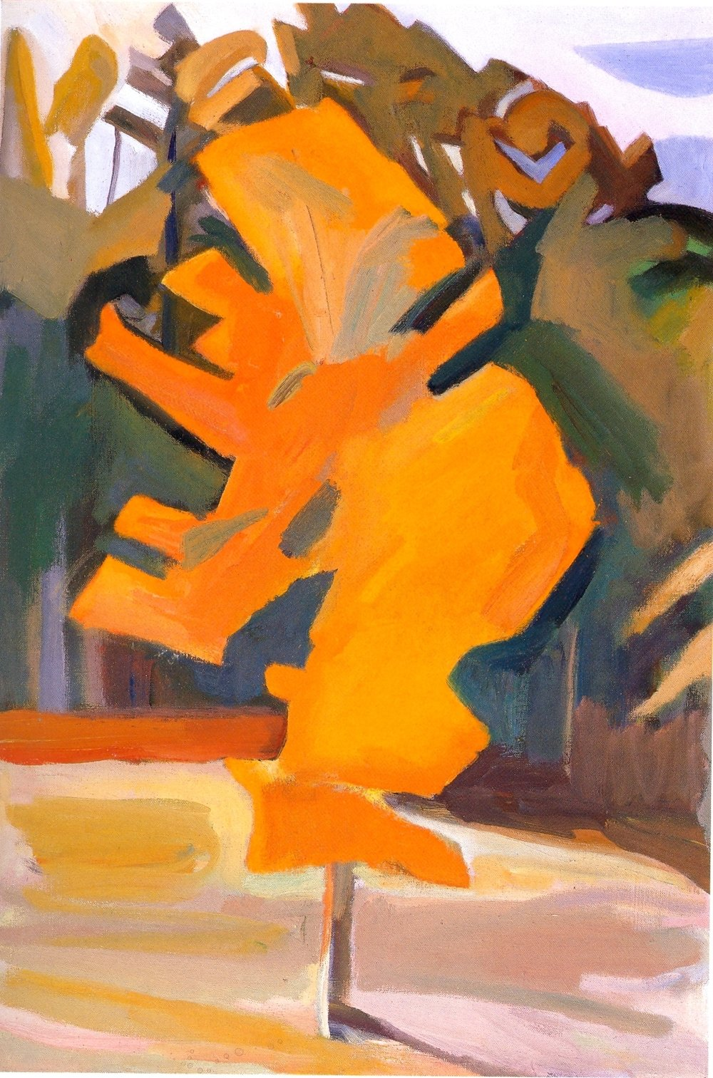 "Buddha Tree    oil on canvas, 30""x20"", 2004"