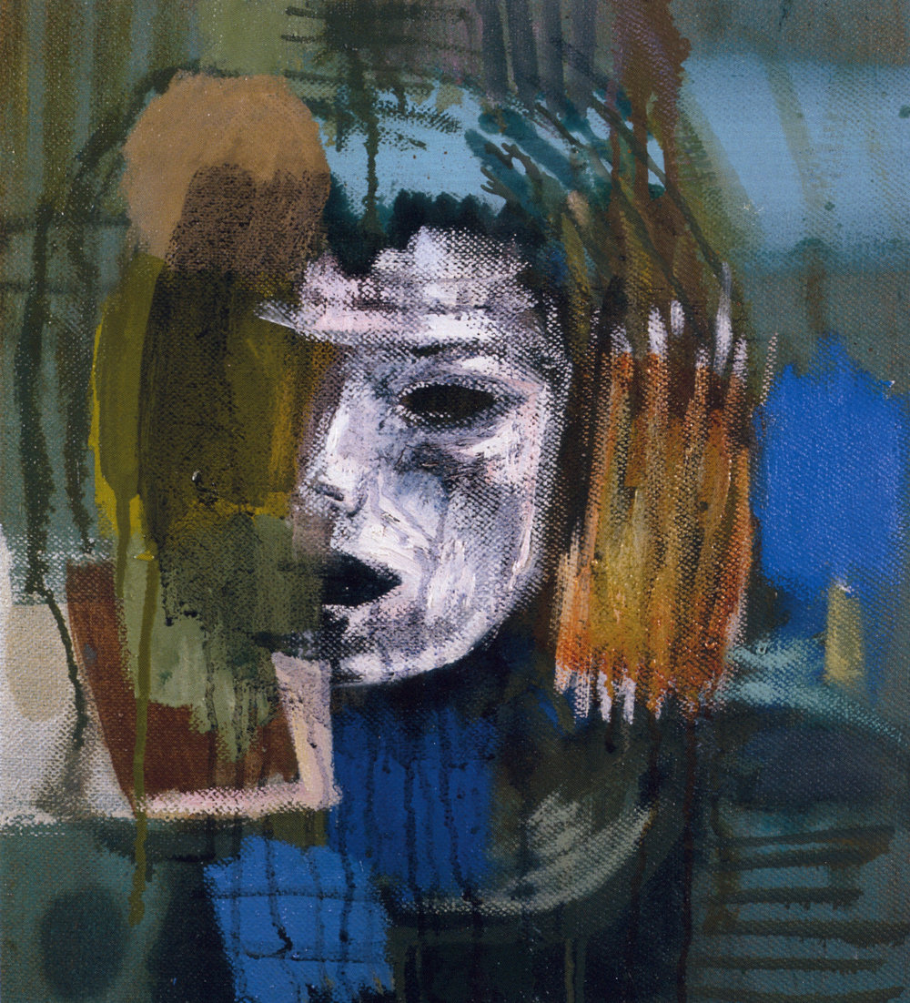 "Mark Kurdziel,  Portrait of Judy,  2003, Oil on Canvas, 17"" x 19"""
