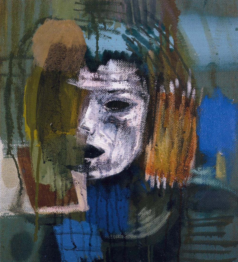 "Mark Kurdziel,  Portrait of Judy,  2003, Oil on Canvas, 17"" x 19"""
