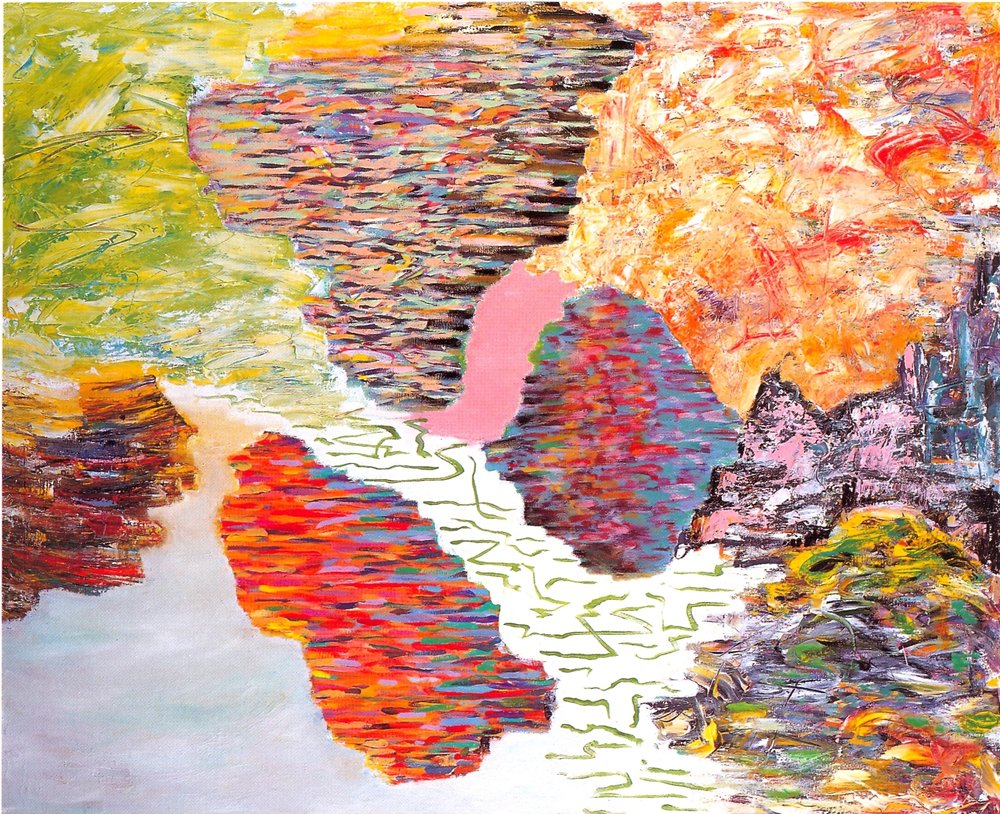"Don Lewallen,   Edge of The Sea,   2002, Acrylic & Oil on canvas, 44"" x 54"""