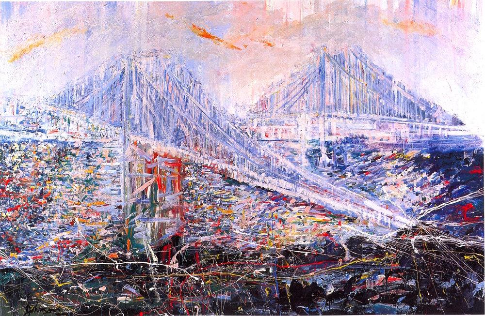 """Arc Light,   2002, Acrylic on canvas, 66"""" x 102"""""""