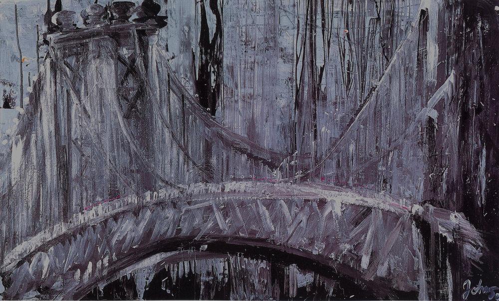 "Industry,   2002, Acrylic on canvas, 36"" x 60"""
