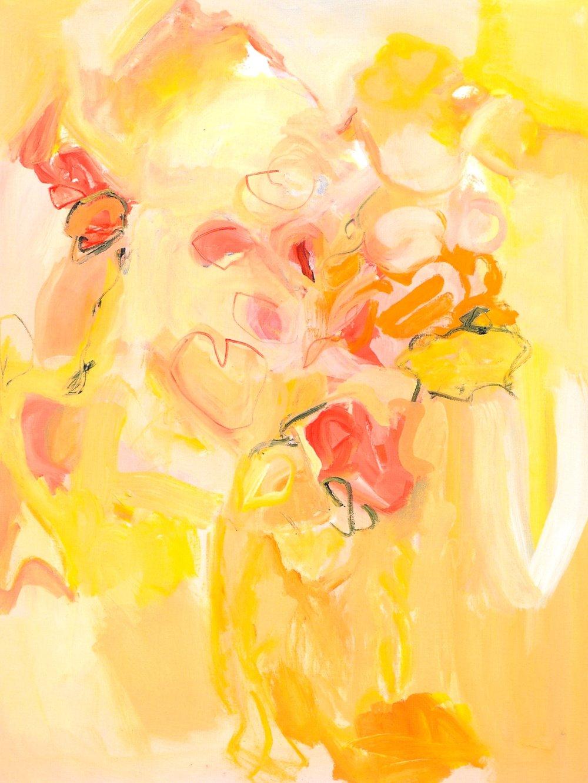 "Big Tiger Lilies,   2002, Acrylic on canvas, 48"" x 36"""