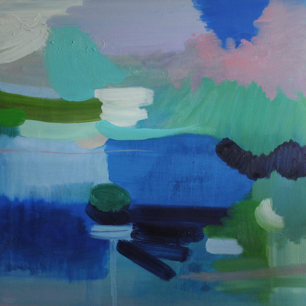 """Chloe Chung,   Peace of Mind,   2016, Oil on canvas, 24"""" x 24"""""""