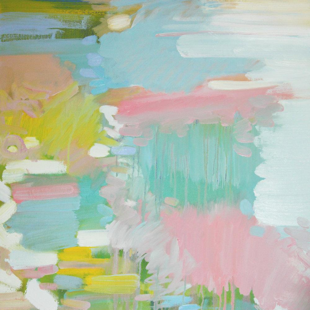 """Chloe Chung,  Spring,   2017, Oil on canvas, 24"""" x 24"""""""
