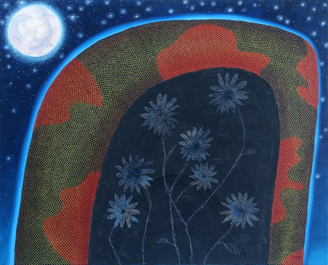 """Jack Bruml Norton,   Flowersna ke ,   2017, Oil on canvas, 30"""" x 32"""""""
