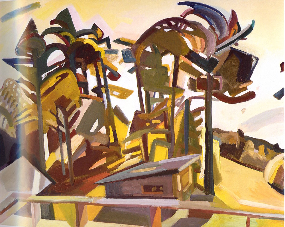 "From the Woodshed,   2002, Oil on canvas, 39"" x 50"""