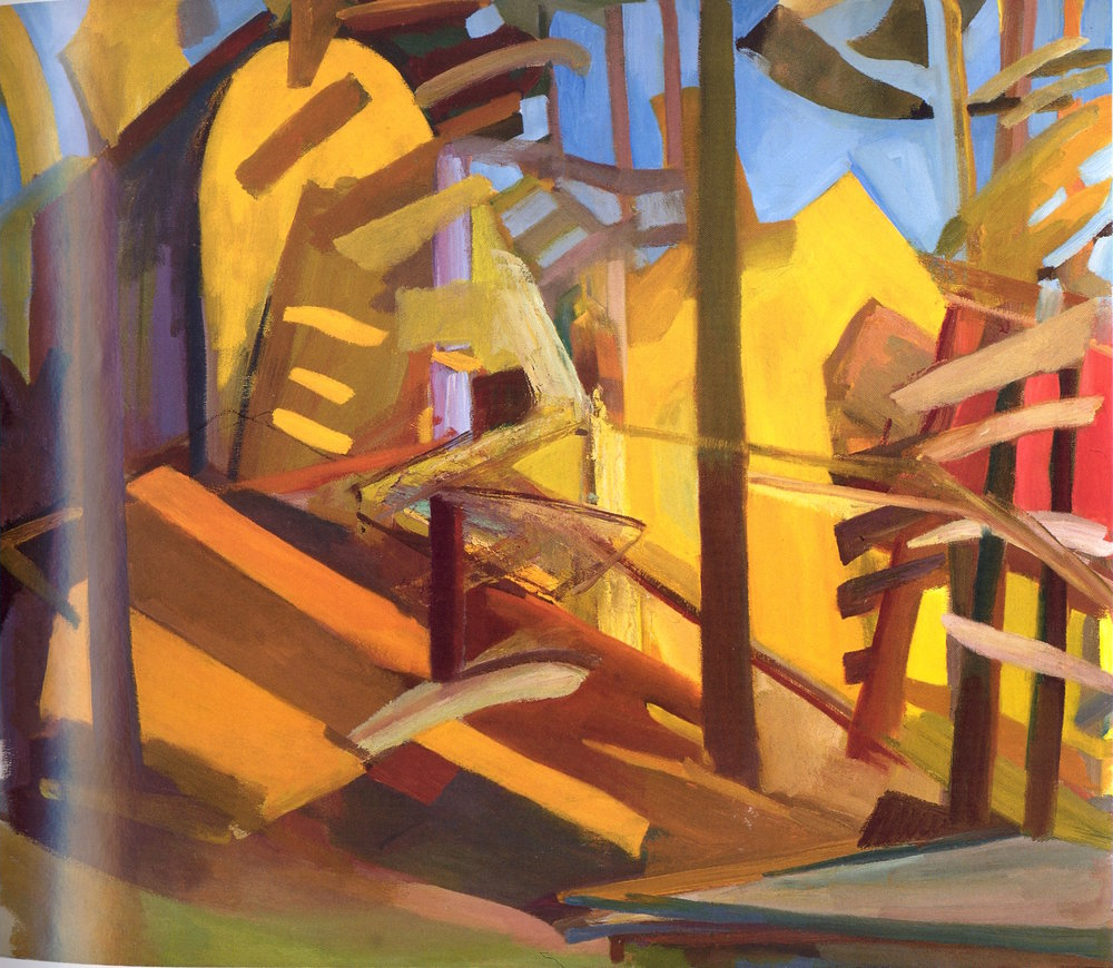 "October up the Hill,   2002, Oil on canvas, 42"" x 48"""