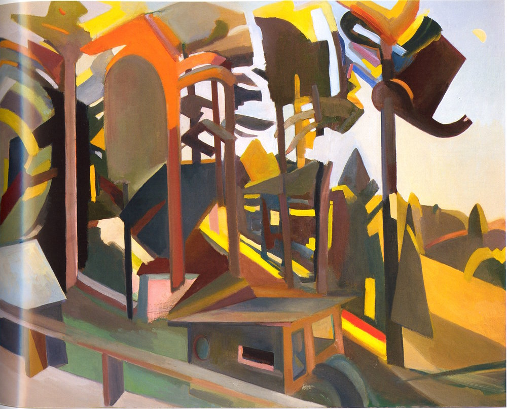 "Late Afternoon From the Deck,   2002, Oil on canvas, 48"" x 60"""