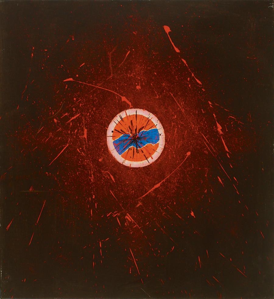 """The Fiery Source III, Acrylic on Linen,1987, 25"""" x 27"""""""