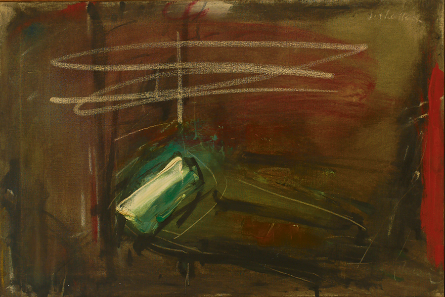 "the Emerald Couch,  Oil on Linen, 1959, 30"" x  26"""