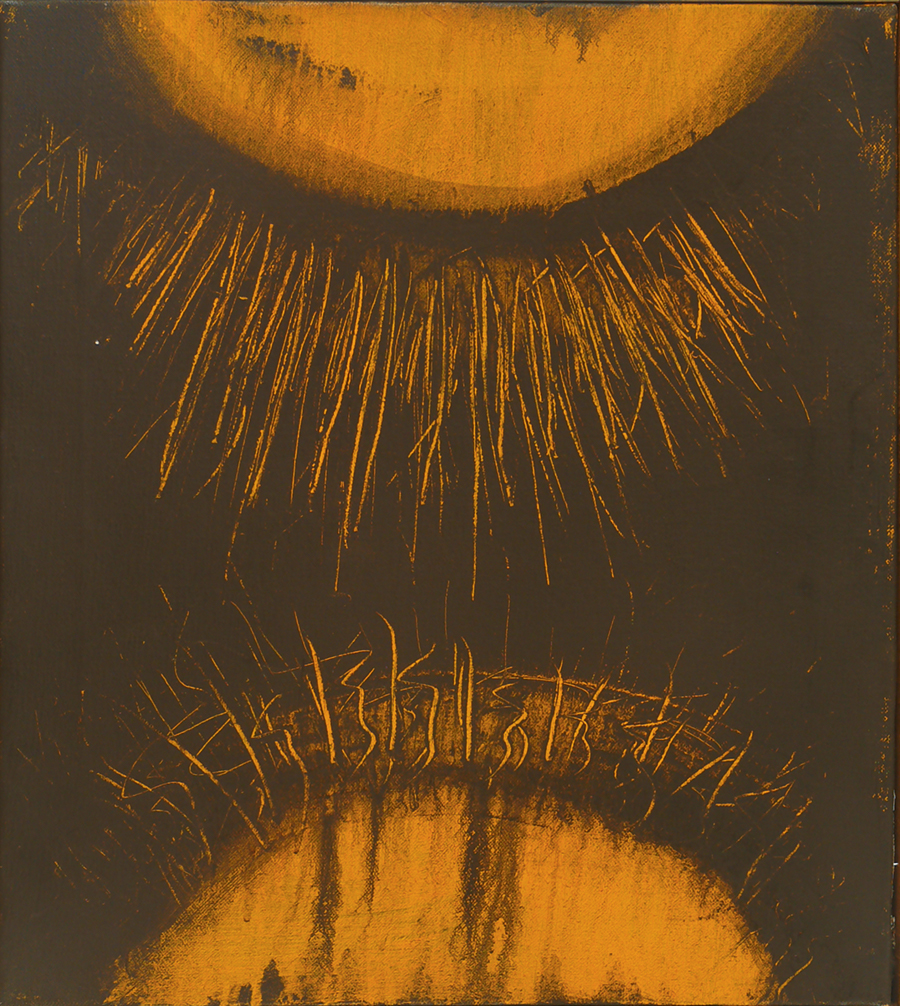 "AS Above-As Below,  Acrylic on Linen, 1969, 17"" x 19"""