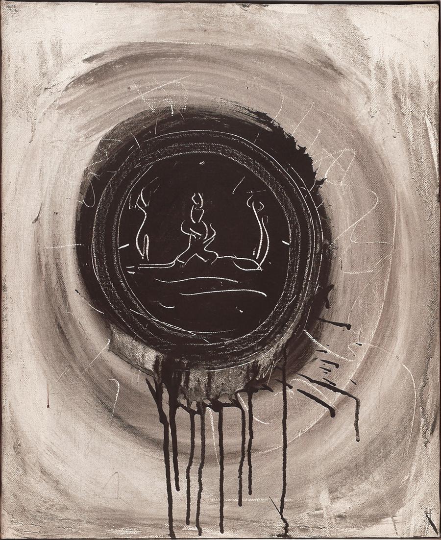 """Mystic Marriage,  Acrylic on Linen,1969,17"""" x 21"""""""