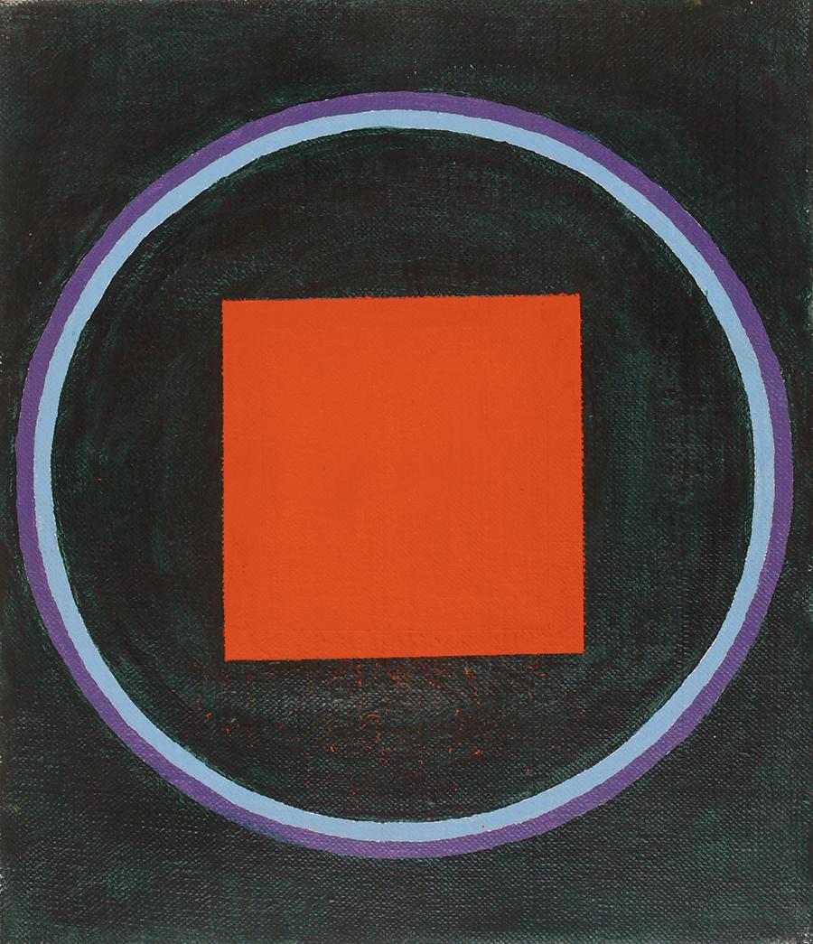 "Magic Circle I, Acrylic on Linen, 1988,10"" x 12"""