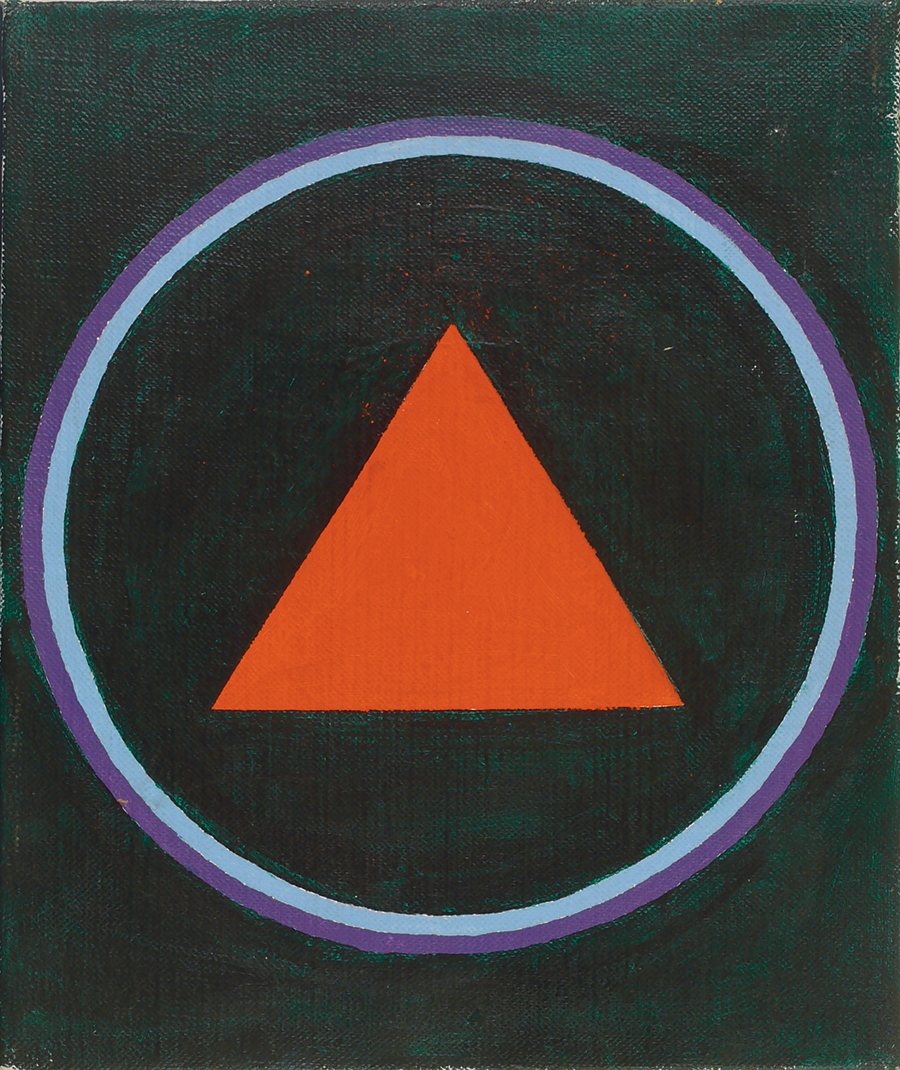 "Magic CircleIII,  Acrylic on Linen,1988, 10"" x 12"""