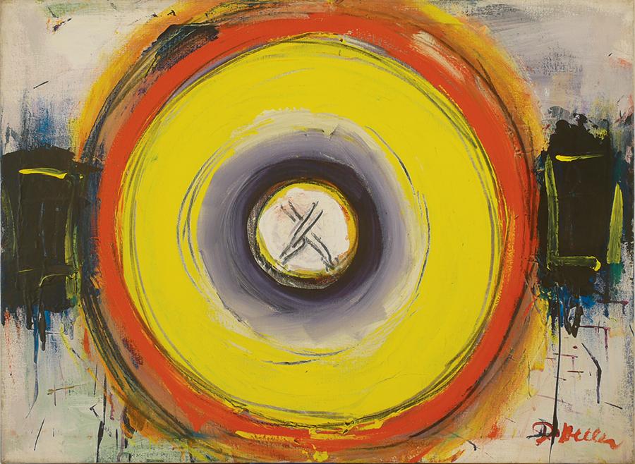 """Mandala III _1966_Acrylic_Linen 38""""x28""""_21000_P66-04"""