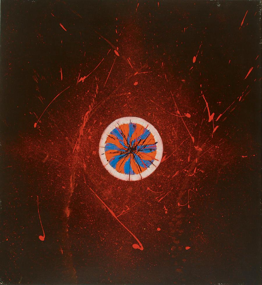 The Fiery Source II , Acrylic on linen, 1987, 35''x33''