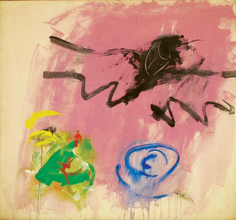 Angel of Death I,  Acrylic on linen, 1962, 55''x51''