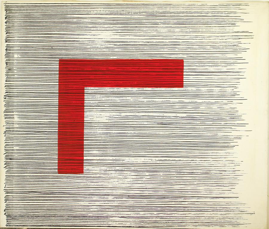 House of Zen ll , Acrylic on linen, 1981, 29''x34''