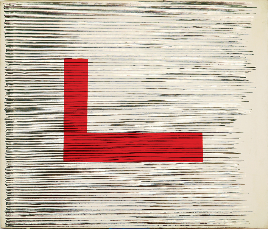House of Zen I , Acrylic on linen, 1981, 30''x34''