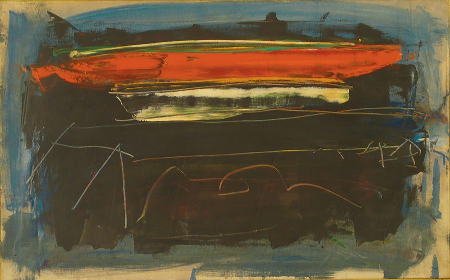 """Dark Day,  Oil on Linen, 1957, 34"""" x 21"""""""
